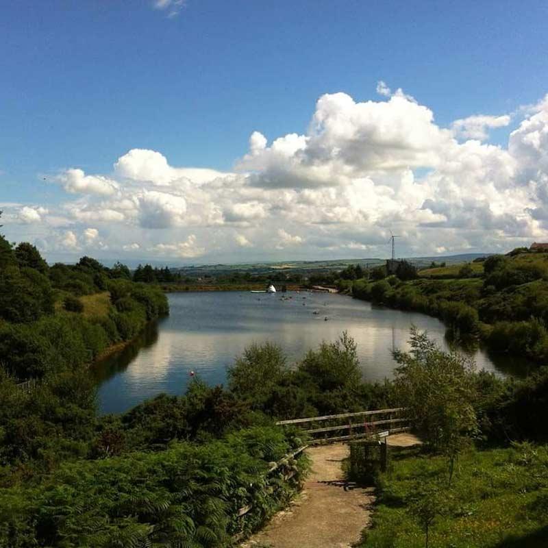 Creggan Country Park in summer